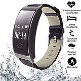 Zeerkeer Reloj Inteligente Impermeable IP67 Smartwatch, Pulsera Actividad con Monitor , Contador de calorías, Sueño,Monitor de presión Arterial (Negro)
