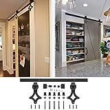 6Füße & # xff08; 183cm & # xff09; Tür Scheune Holz Schiebewand, Schiebetür für Bad, Schlafzimmer, Balkon, Küche und andere Flügeltüren