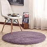 LIL Krabbeldecke für Mädchen, rund, für Schlafzimmer, Prinzessin, niedlich, voller Preis, Gondola, Teppich für Computerstuhl (Farbe: Malve, Größe: 160 cm), violett, 160 cm