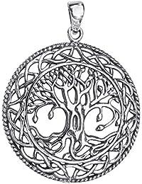 MATERIA 925 Silber Anhänger Lebensbaum antik - Keltischer Schmuck Anhänger  Baum des Lebens ... a6de5e1e3d
