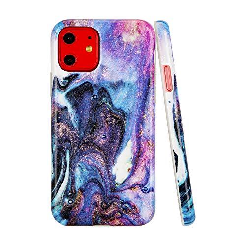 SunshineCases【Kompatibel: Apple iPhone 11】 Dünne, Ganzkörper-Schutzhülle für Damen und Mädchen, Outer Space Nebula Galaxy