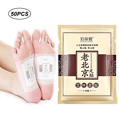 KOBWA Detox Fußpflaster, Detox Vitalpflaster, Fußpflaster zur Entgiftung, 100% natürlich Foot Pad Pflaster zur Erholung und Entspannung, Foot Care Health Care entfernen Körper Giftstoffe