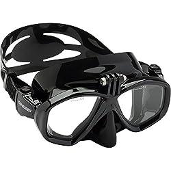 Cressi adultes masque de plongee Action Standard Noir - Noir