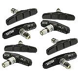 """Saccon Bremsschuhe, 4 Paar (8 Stück), Modell """"PM25"""", für V-Brake, 70 mm, schwarz"""