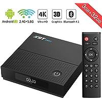 Bqeel X9T PRO Android TV Box Android 7.1 con Amlogic S912 ocho núcleos 3GB / 32G eMMC / 1000M LAN / Dual-Band WiFi / Bluetooth 4.1 H.265 4K Smart TV Box