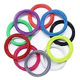 TIANLIANG04 20 Farbe oder 10 Farben 5 Farb-/3D-Pen Filament ABS 1,75 mm Kunststoff Gummi Drucken Material für Geschenke meiner Kinder Geburtstag, 100 Meter 10 Farbe