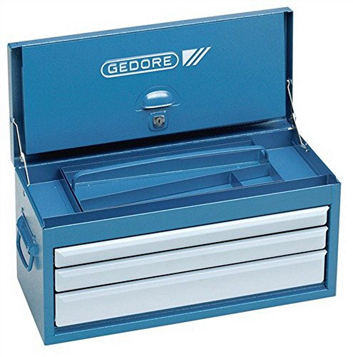 Werkzeugtruhe 3Schubladen GEDORIT blau/Schubladen silber