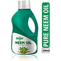 B Natural Organic Cold Pressed,Pure Neem Oil For Spray On Plants & Garden 200 ml Pouch With Free Measuring Cup
