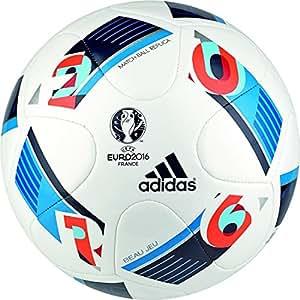 adidas Fussball Ball Beau Jeu JUMBO Replique EURO 2016 weiß / multicolor