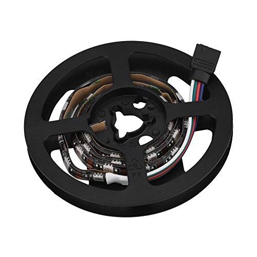Fosa 120 ° USB RGB LED Streifen Lichterkette LED Lichtleisten Wasserdichte Blitzlichter Fernbedienung Kontrolle USB LED mit 24-Tasten-Fernbedienung für Computer,Familien Game(0.5m) - Kontrolle Flüssigkeit