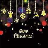 ODJOY-FAN Weihnachten Gold Wandaufkleber Fenster Tür Aufkleber Zuhause Dekoration Gemälde Haushalt Mauer Aufkleber Wandgemälde Dekor Abziehbild Wandtattoos (40X60cm) (D,1 PC)