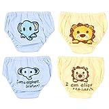 JEELINBORE Bébé garçons/filles Animé Mignon Bloomers Confortable Culottes Slips Sous-vêtements, Multipack | pour 1-4 Ans (Style2 Garçons(4PCS), 90)