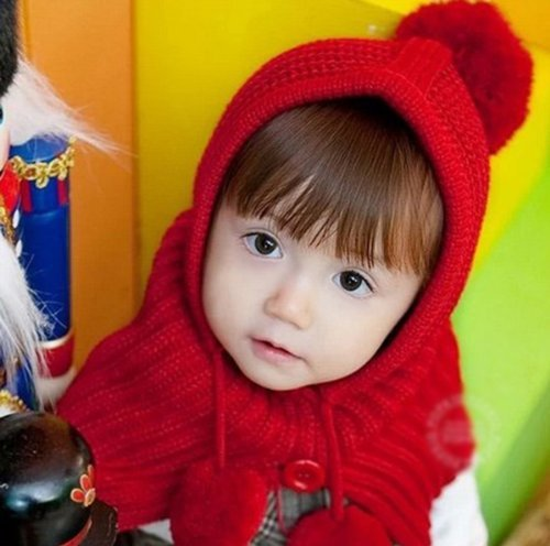 Arpoador Baby Kinder Kleinkind Knit Crochet Beanie Winter Wrap Hut Schal Ohr Warme Cap Set (rot) -