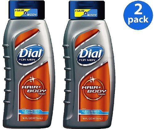 Dial for Men Ultimate Clean Hair Body Wash 16 Fl Oz (473 Ml) ~ Pack of 2 by Dial