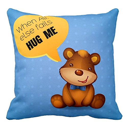 Giftcart Sweet Gift for Friend Hug Me Love Cushion Cover 12x12 with Filler Best Gift for Boyfriend and Girlfriend
