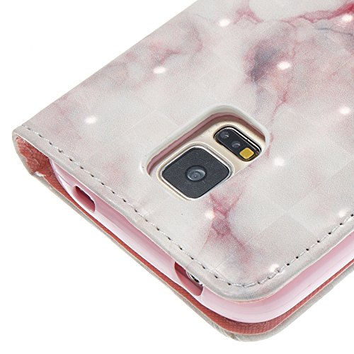 Marmor Stein Grain Texure Pattern PU Ledertasche Cover, Retro Bookstyle Flip Stand Case mit Magnetverschluss & Card Slots & Lanyard für Samsung Galaxy S5 ( Color : E ) D