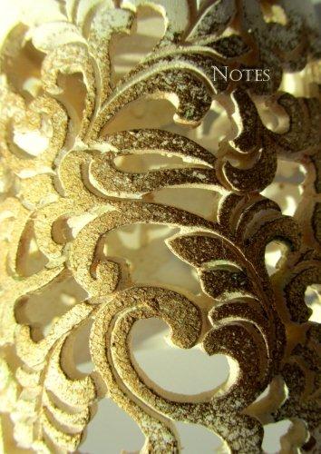Notizbuch A4 - kariert - Golden Ornament: DIN A4 - Tagebuch (Golden-termine)