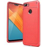 Huawei Honor 10 Lite 2018 Funda, FindaGift TPU Suave Ultra Delgado [Inastillable][A prueba de choques][Protección completa] Bumper A prueba de huellas Back Cover con base antideslizante para Honor 10 Lite 2018 (Rojo)