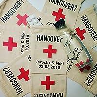 Gastgeschenk Hochzeit Hangover Survival Kit gegen den Kater personalisierbar mit eurem Wunschtext