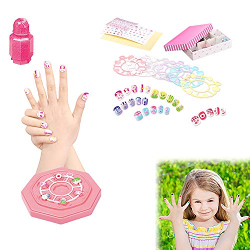 Wudi Juguetes niños 1pack Nail Art Kit Sistema manicura