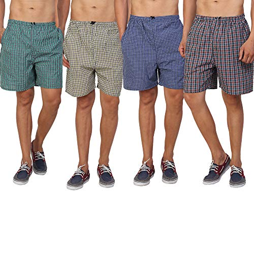 PSK Men's Cotton Boxer (Pack of 4)