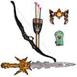 #6: IndusBay Bahubali Style Warrior Set with Sword, Bow and 3 Arrows Head Gear and Wrist Armour - Fancy Dress for Kids Cosplay