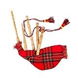 Cornamusa funzionante per bambini decorata con il tartan Royal Steward