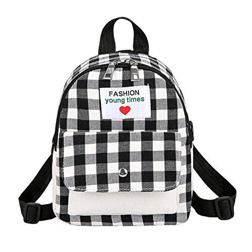 Rucksack Handtaschen Daypack Schultaschen Schulrucksack Tagesrucksack Backpack Umhängetasche Reiserucksack für Schule Reise Arbeit (Schwarz, Eine Größe) ()