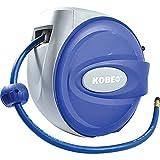 Automatischer Druckluft Schlauchaufroller einziehbar für Luft Wasser Ø10mm 15 Meter Schlauchtrommel