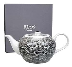 Nippon Black Teapot 1.0L 14x19cm Dots NBKTPD-02 GBOX 1/8 8480