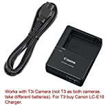 Canon replacement LC-E8E Quick Charger for Canon LP-E8 Li-ion Battery compatible with Canon EOS 550D EOS 600D EOS Rebel T2i EOS Rebel T3i