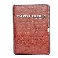 Gullor cuir PU Nom du titulaire de la carte Business Journal livre pour 120 cartes, Red Brown