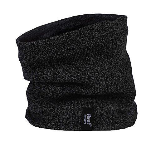 HEAT HOLDERS – Herren Thermische Winter-Vlies-Kabel Wollmütze, Nackenwärmer und Handschuhe gesetzt (L/XL, Schwarz) - 3