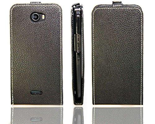 caseroxx Hülle/Tasche Flip Cover passend für Wiko Barry, Schutzhülle (Handytasche klappbar in schwarz)