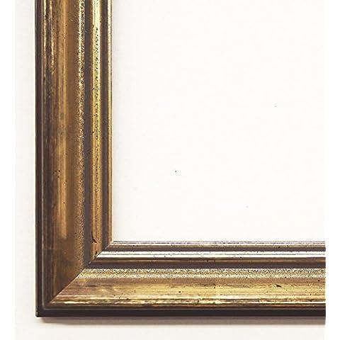 Cornice altoetting - Platin 2,3 - vuoto viennagold senza telaio 80 x 90 cm - vetro dimensioni varie a scelta - altre varianti con luce normale vetro, Museo vetro, Plexiglas disponibili in negozio - anticato, in stile barocco
