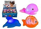 Unbekannt Blinkende Badewannentierchen, Badespielzeug, Badetiere, Wasserspielzeug