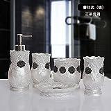 Creative continentale bagno 5 pezzo coppie di resina Bluetooth tazza WC molto funzionale Kit di cortesia