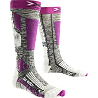 X-Socks Mujer skistrumpf Rider 2.0, Grey, Mujer, SKI Rider 2.0 Lady, Grey Melange/Violet