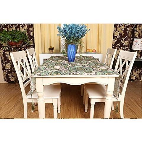 Ricamo Tovaglia runner tavola ciotole sottobicchieri tappeto tavolino tavolo panno tovaglie , purple , table 1: 130*210cm