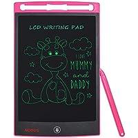 NOBES Tableta de Escritura LCD 8.5 Inch, LCD Tablero de Dibujo Gráfica Pizarra Magica de Mensaje Memo Pad Electrónico con Lápiz Regalos para Niños,Clase,Oficina,Casa,Cocina (8.5 Inch, Rosa)