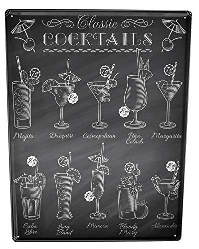 Cartel Letrero de Chapa XXL Retro Cócteles Bar Publicación Restaurante