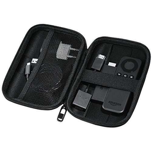 Hama EVA Festplattentasche (geeignet für 6,4 cm (2,5 Zoll) HDD und Zubehör, wasserabweisend, stoßresistent, integriertes Kabelfach, passend für Fire TV Stick 1./2. Generation) Schwarz