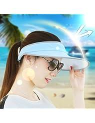 sombrero de la pesca Sombrero sombrero al aire libre del sol del verano femenino anti-Sai Travel UV gran sombrero de ala ancha sol vacío Xihansugan sombrero de copa