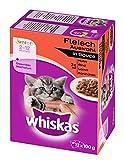 Whiskas Junior Katzenfutter Fleischauswahl in Sauce
