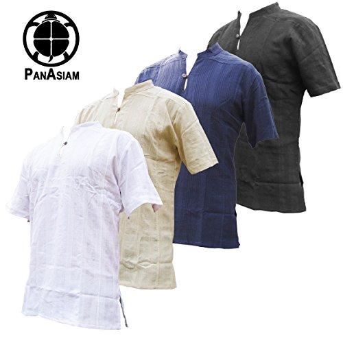 PANASIAM Fischerman Hemd, aus 100% echter freshrunk Baumwolle, M, L oder XL Naturweiss