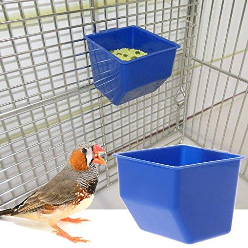 Qiman Pappagallo Ciotola per Acqua Alimentare abbeveratoio Uccello da Appendere piccioni Gabbia Alimentazione