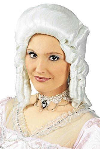 Barock Collier - Halskette aus Spitze mit Schmucksteinen - Weiß