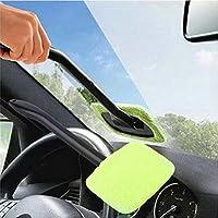 Oyamihin Limpiador fácil de plástico portátil Limpiador fácil de Microfibra Ventana Limpia en su Coche o Lavable en casa Fácil Brillo fácil a Mano