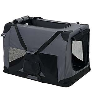 Trasportino per cani grigio pieghevole mis for Amazon trasportini per cani