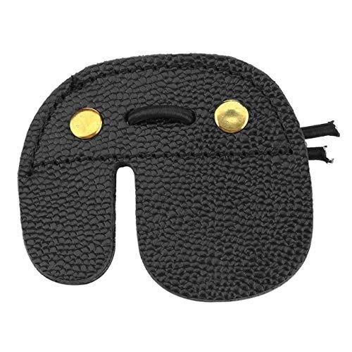Ballylelly-Kuh Leder Bogenschießen Fingerschutz Schutz Pad Handschuh Tab Bogen Schießen Stark und Haltbar Passt für Linke Hand Und Rechte Hand -